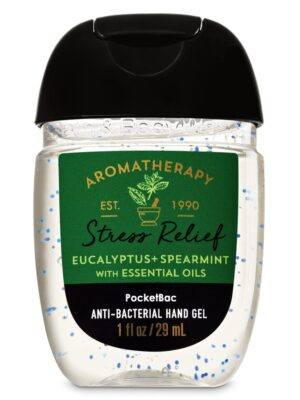 Bath And Body Works Aromatherapy Stress Relief Eucalypyus+Spearmint With Essential Oils 29 ml PocketBac Anti-Bacterial Hand Gel