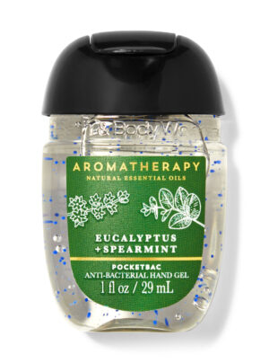 Bath And Body Works Aromatherapy Stress Relief Eucalypyus+Spearmint With Essential Oils 29 ml PocketBac Anti-Bacterial Hand Gel.